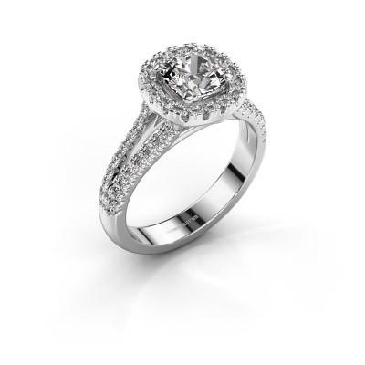 Verlovingsring Francesca 585 witgoud diamant 1.89 crt
