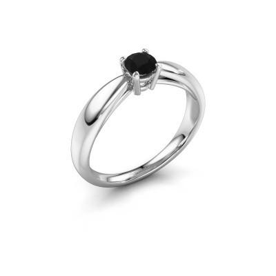 Verlovingsring Nichole 585 witgoud zwarte diamant 0.36 crt