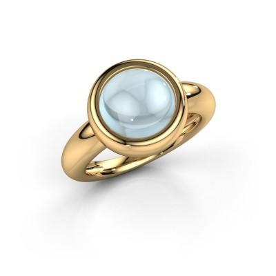 Foto van Ring Jenae 585 goud aquamarijn 10 mm