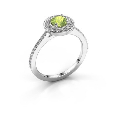 Picture of Ring Agaat 2 585 white gold peridot 5 mm