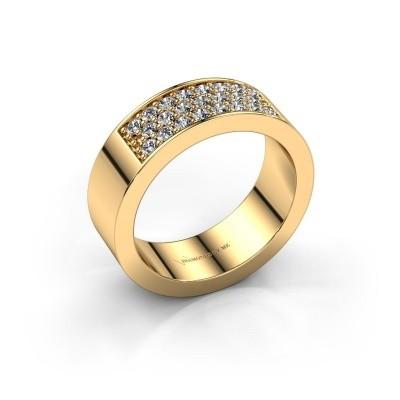Ring Lindsey 5 375 gold zirconia 1.7 mm