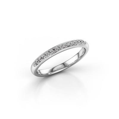 Stackable ring SR20B6H 950 platinum lab grown diamond 0.156 crt