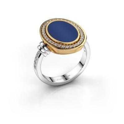 Foto van Heren ring Servie 585 witgoud lapis lazuli 14x10 mm