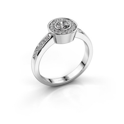 Foto van Ring Adriana 2 585 witgoud zirkonia 4 mm