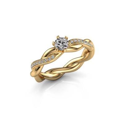Foto van Verlovingsring Page 585 goud diamant 0.25 crt