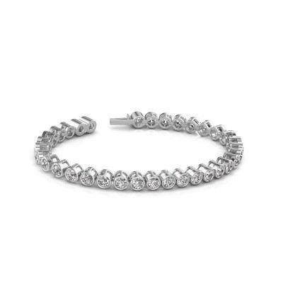 Foto van Tennisarmband Allegra 4 mm 585 witgoud diamant 9.50 crt