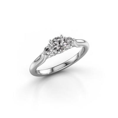 Foto van Verlovingsring Laurian RND 950 platina diamant 0.56 crt