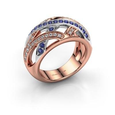 Ring Yinthe 585 rosé goud saffier 1.5 mm