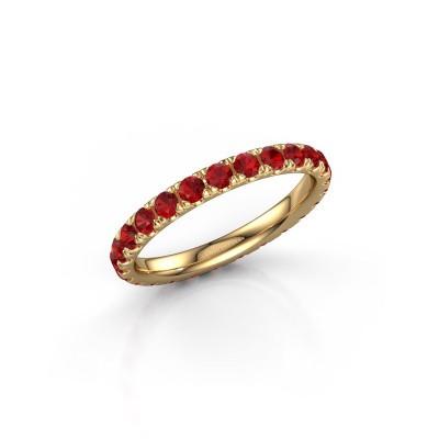 Foto van Ring Jackie 2.3 375 goud robijn 2.3 mm