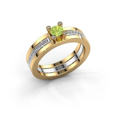 Foto van Ring Alisha 585 goud peridoot 4 mm