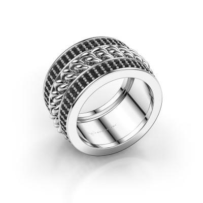 Foto van Ring Jayda 585 witgoud zwarte diamant 1.800 crt