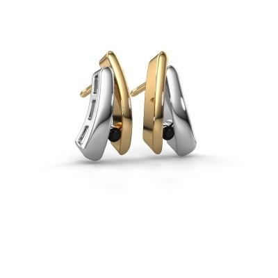 Bild von Ohrringe Liesel 585 Gold Schwarz Diamant 0.072 crt