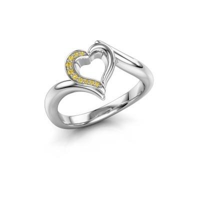 Bild von Ring Katlyn 925 Silber Gelb Saphir 0.8 mm