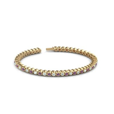 Bild von Tennis Armband Patrica 375 Gold Amethyst 2.4 mm