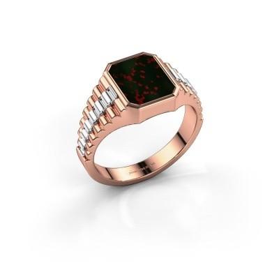 Foto van Rolex stijl ring Brent 1 585 rosé goud heliotroop 10x8 mm