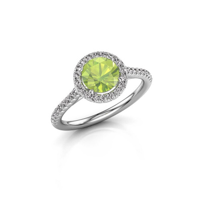 Picture of Engagement ring Seline rnd 2 925 silver peridot 6.5 mm