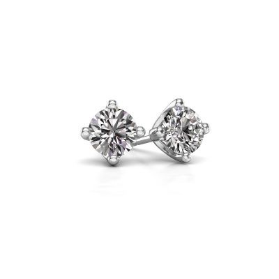 Photo de Clous d'oreilles Briana 585 or blanc diamant 0.20 crt
