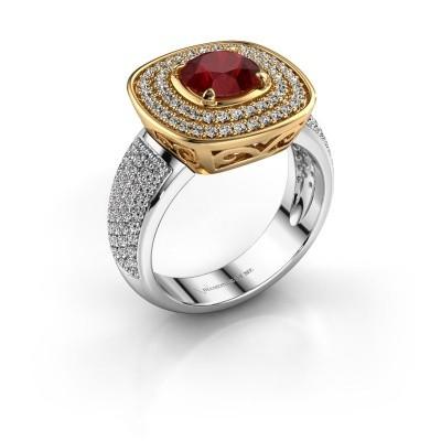 Ring Eliana 585 goud robijn 6 mm