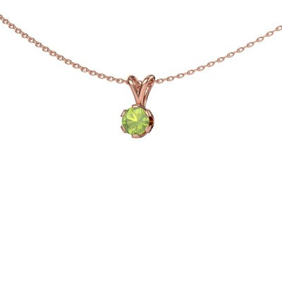 Picture of Necklace Julia 375 rose gold peridot 5 mm