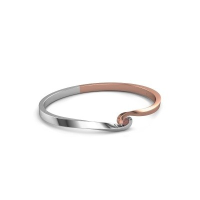 Bangle Sheryl 585 rose gold garnet 3.7 mm