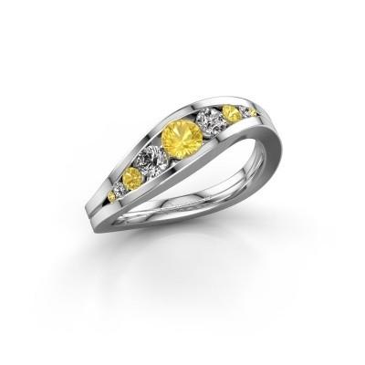 Bild von Ring Sigrid 2 925 Silber Gelb Saphir 4 mm