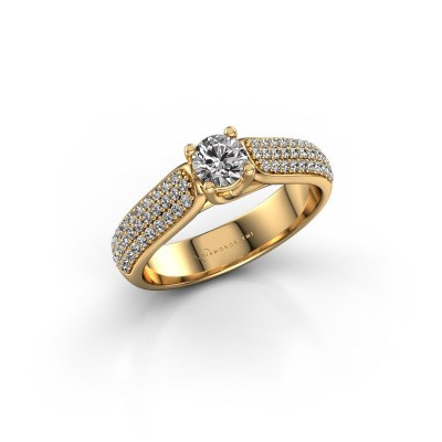 Engagement ring Leoness 375 gold diamond 0.30 crt