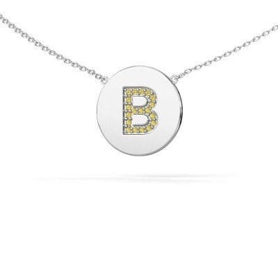 Initial pendant Initial 050 585 white gold