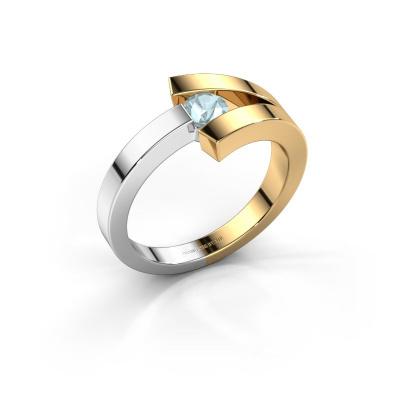 Ring Sofia 585 Gold Aquamarin 3.7 mm