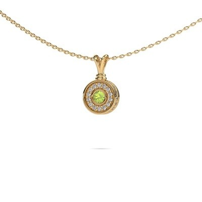 Picture of Pendant Roos 585 gold peridot 3 mm