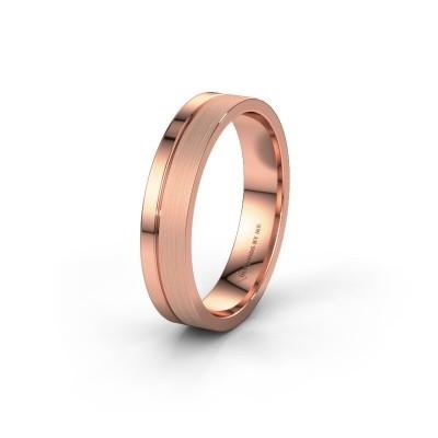 Trouwring WH0157M14XPM 375 rosé goud ±4,5x1.5 mm