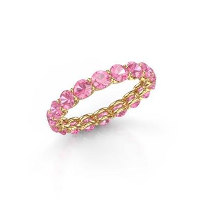 Foto van Ring Kirsten 3.4 375 goud roze saffier 3.4 mm