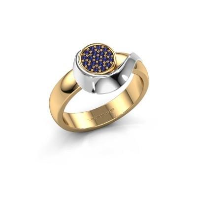 Ring Kimber 585 goud saffier 1 mm