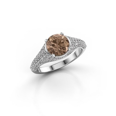 Verlovingsring Lovella 950 platina bruine diamant 1.929 crt