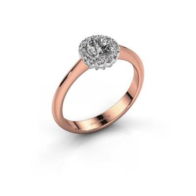 Foto van Verlovingsring Anca 585 rosé goud diamant 0.30 crt