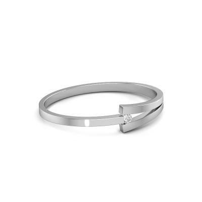 Slavenarmband Sofia 950 platina diamant 0.50 crt