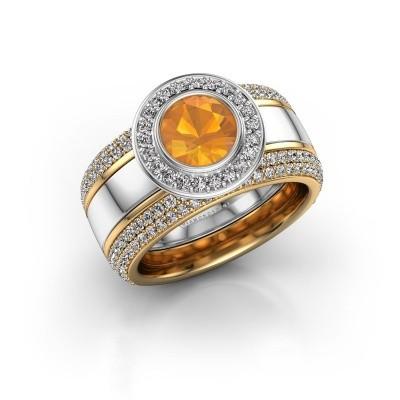 Bild von Ring Roxie 585 Weißgold Citrin 6.5 mm