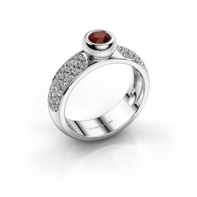 Picture of Ring Benthe 585 white gold garnet 4 mm