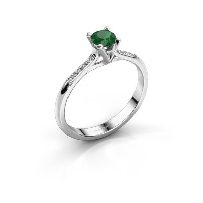 Picture of Engagement ring Isa 2 585 white gold emerald 4.2 mm