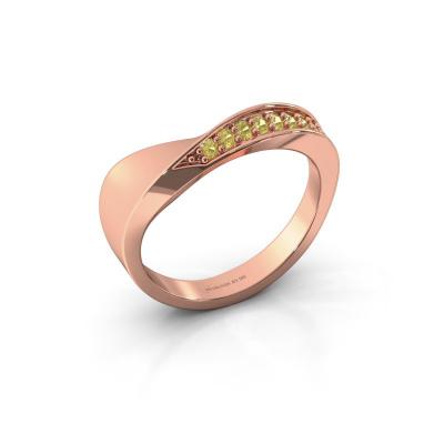 Ring Lynn 585 rosé goud gele saffier 1.6 mm