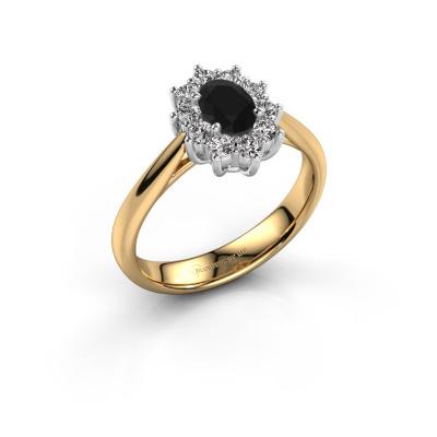 Foto van Verlovingsring Leesa 1 585 goud zwarte diamant 0.60 crt