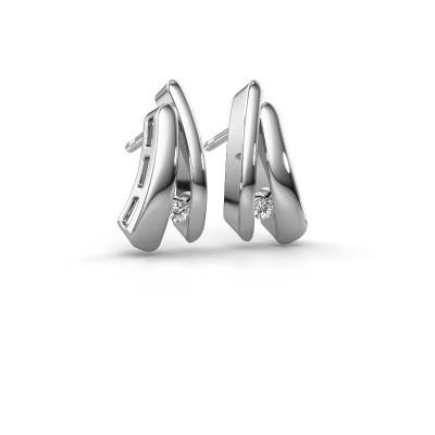 Picture of Earrings Liesel 925 silver zirconia 2 mm
