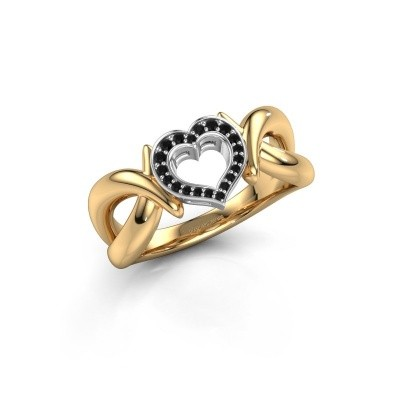 Ring Earlie 1 585 gold black diamond 0.092 crt
