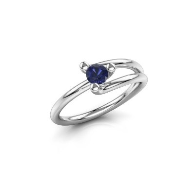 Engagement ring Roosmarijn 950 platinum sapphire 4 mm