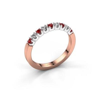 Foto van Verlovingsring Dana 9 585 rosé goud robijn 2 mm