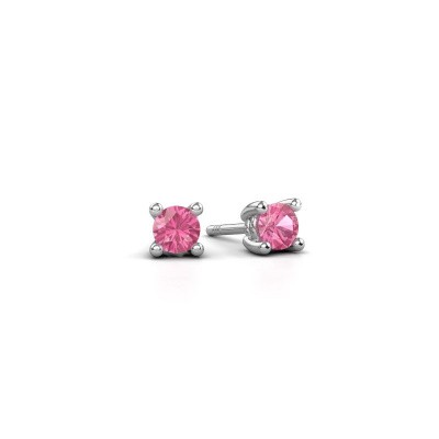 Picture of Stud earrings Sam 950 platinum pink sapphire 4 mm