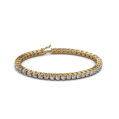 Bild von Tennis Armband Karin 4 mm 585 Gold Diamant 10.75 crt