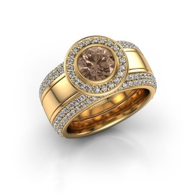 Foto van Ring Roxie 585 goud bruine diamant 2.06 crt