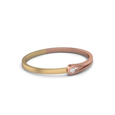 Bracelet jonc Kiki 585 or rose diamant 0.50 crt