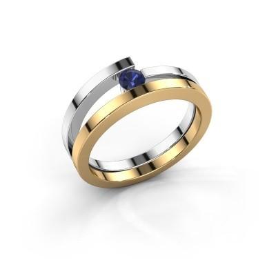 Ring Sandy 585 goud saffier 3.4 mm