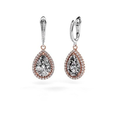 Picture of Drop earrings Hana 2 585 rose gold diamond 6.465 crt